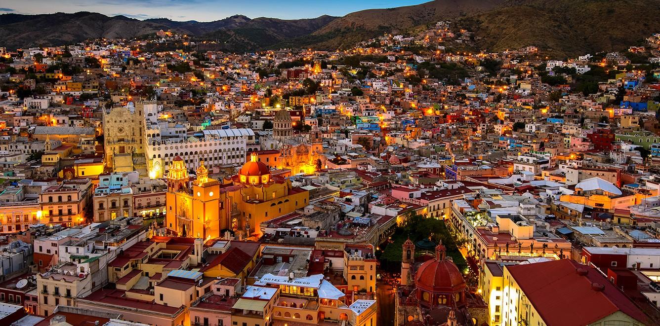 Foto panoramica de Guanajuato