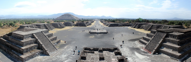 Foto panoramica de Teotihuacan