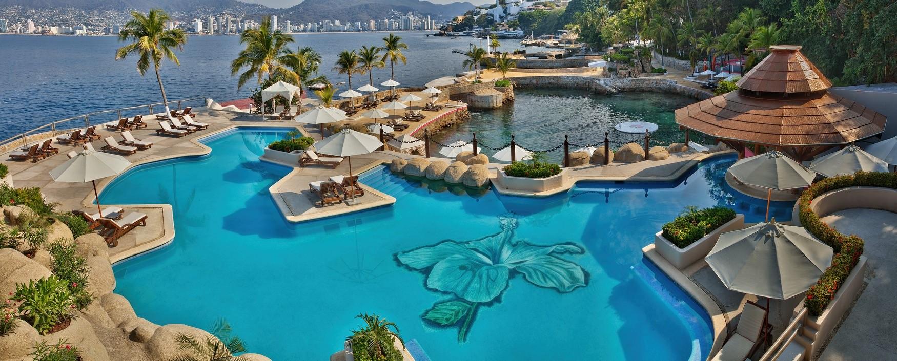 Panoramica del hotel Las Brisas Acapulco