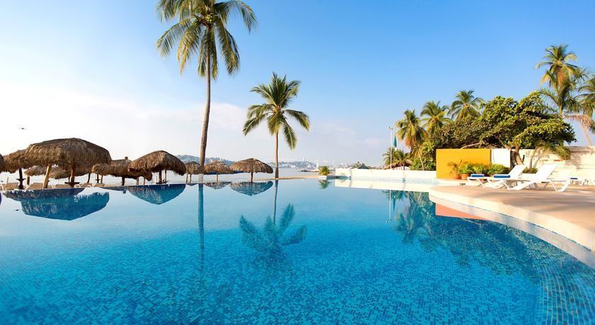 Panoramica del hotel Krystal Beach Acapulco