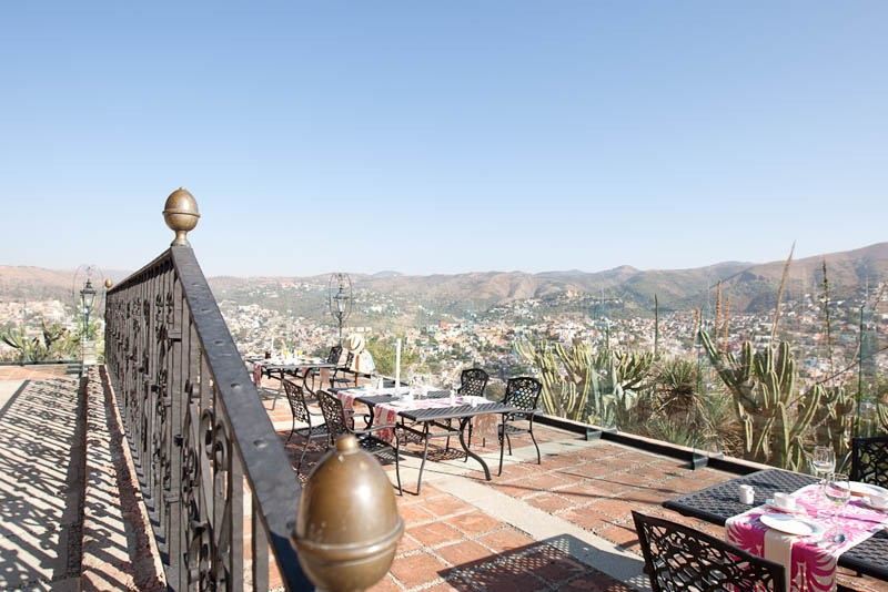 Panoramica del hotel Misión Grand Casa Colorada Guanajuato