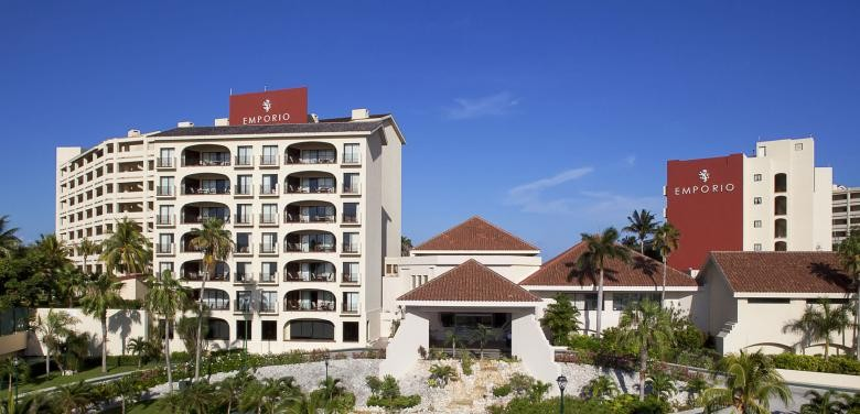 Panoramica del hotel Emporio Cancún