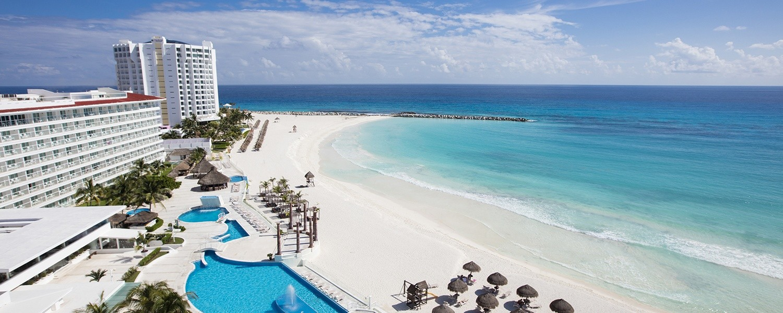 Panoramica del hotel Krystal Cancún