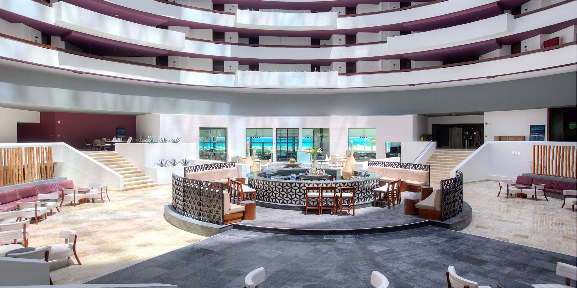 Panoramica del hotel Krystal Grand Punta Cancún