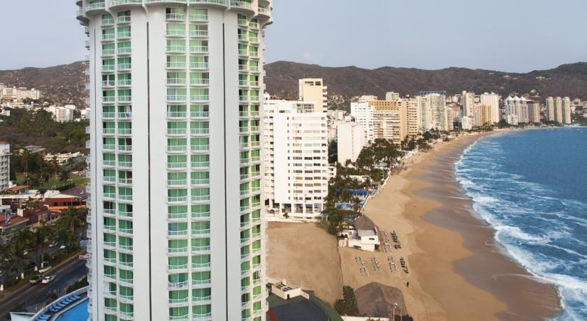 Panoramica del hotel Calinda Beach Acapulco