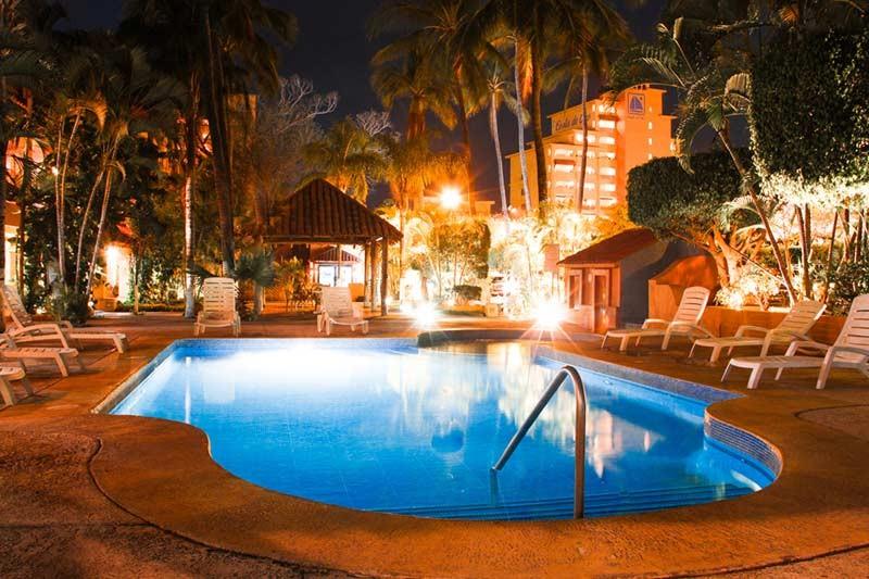 Panoramica del hotel Margaritas Hotel & Tennis Club Mazatlán