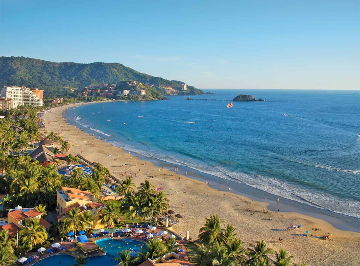 Panoramica del hotel Park Royal Beach Resort Ixtapa